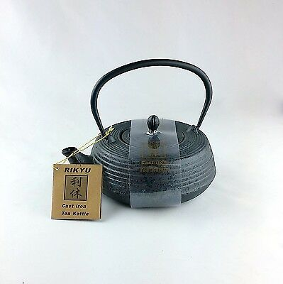 Japanese rikyu tetsubin cast iron brown tea kettle teapot with strainer picclick - Japanese teapot with strainer ...