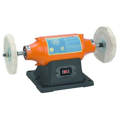 """6"""" Heavy Duty Metal Material Polisher Smoother Buffer w/ 1/2 HP Motor"""