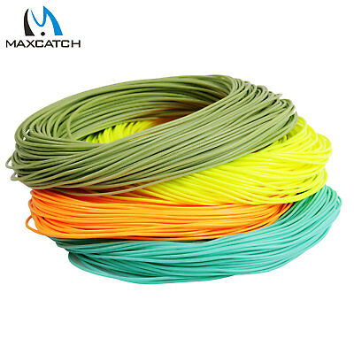 Maxcatch WF2/3/4/5/6/7/8F Orange Weight Forward Floating Trout Fly Fishing Line