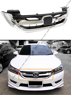 For 2013-15 9th Gen Honda Accord 4 Door Chrome Modulo Style Front Grille Grill