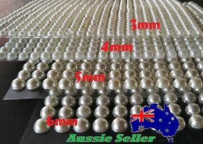 240-690 pcs 3,4, 5,6mm Ivory Pearls Gems Self Adhesive Sticker on crystal strip