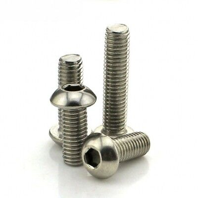 A2 M6 Pan Round Button Head Socket Cap Screw Allen Bolts / Hex Nuts / Washers