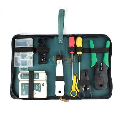 Computer Network Cable Tester Wire Crimp LAN RJ45 RJ11 CAT5 Analyzer Tool Kit HY