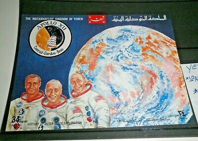 "Francobolli Stamps Yemen ""space - Apollo Xii"" Mnh** Block (Cat.5A)"