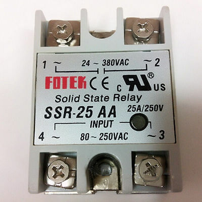 SSR-25 AA Solid State Relay Relais Modul Temperaturregler 25A/220V 3763