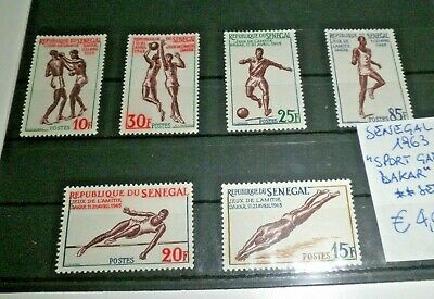 "Francobolli Stamps Senegal 1963 ""sport Games Dakar"" Mnh** Set (Cat.x)"