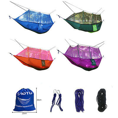 Double Person Travel Outdoor Camping Travel Mosquito Net Hanging Hammock Bed