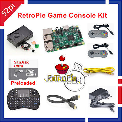 16GB RetroPie Game Console Kit with Raspberry Pi 3 Model B SNES Controllers