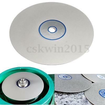 6'' Inch Grit Polishing Disc 600 Diamond Coated Lapidary Flat Lap Wheel Lapping