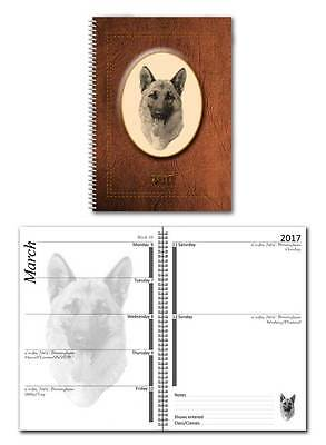 German Shepherd Dog/ Alsatian 2017 Large Show Diary in a choice of 7 colours