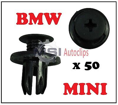 50 x BMW MINI INNER WHEEL ARCH LINER SPLASHGUARD LINING TRIM CLIPS 07130702966