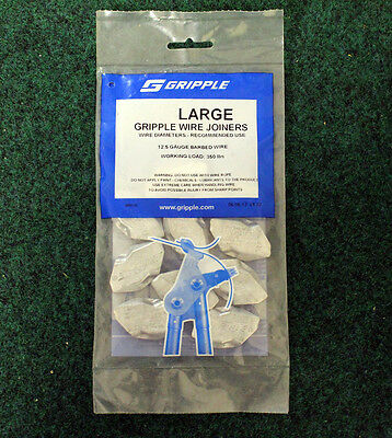 Gripple 50 Large Wire Joiners - 12.5 Gauge Barbed Wire (50pk.)