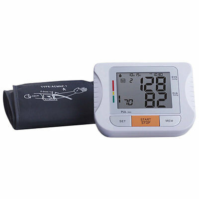 Digital Arm Blood Pressure Heart Beat Rate Checker Pulse Meter Measure F7