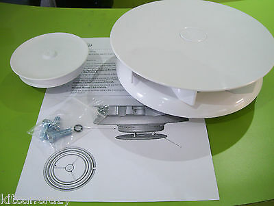 White Plastic Slimline Wind  Rotary Roof Van Air Vent , Dog, Horse Vehicle