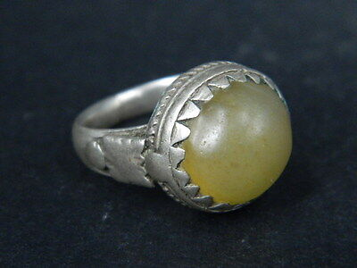 "Antique Silver Ring With Nice Stone 1900 Ad  ""tc327"""
