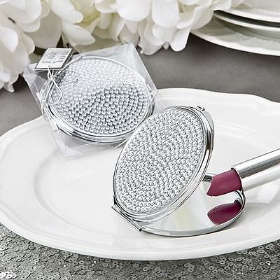 6 X Bling Collection Metal Compact Mirror Wedding & Party Filler Favours Gifts