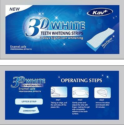 28x 3D PROFESSIONAL TEETH WHITENING 14 POUCHES BLEACHING STRIPS FAST RESULT!
