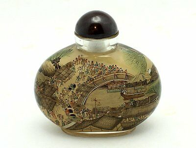Fine Late 20Th Century Chinese Inside-Painted Glass Snuff Bottle