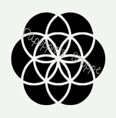 Stencil Seed of Life Sacred Geometry Multi Sizes You Choose Size Free Shipping
