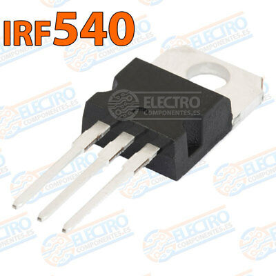 IRF540 MOSFET transistor potencia 100v 33A PCB TO-220 IRF540N