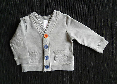 Baby clothes OY 6-9m cosy soft grey sweatshirt-style cardigan pockets SEE SHOP!