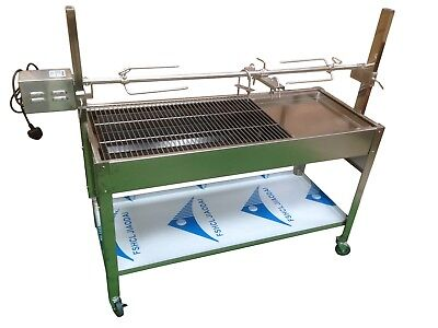 Stainless Steel Charcoal Hog Roast Pig Spit Machine