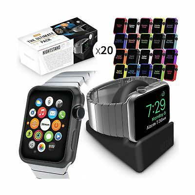 Orzly ULTIMATE PACK for Apple Watch (38 MM) - Includes Orzly Nightstand & Multi-