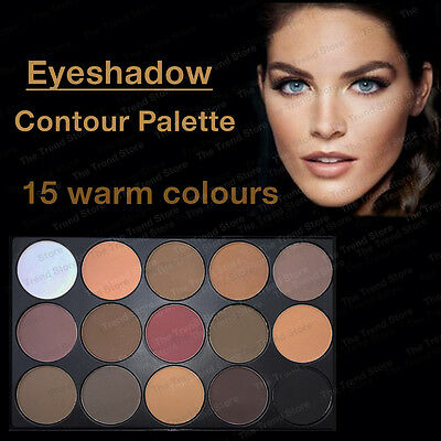 EYESHADOW PALETTE 15 Colours colors WARM Nude Matte Shimmer eye contour Makeup