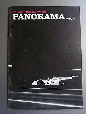 1971 Porsche PCA Panorama Magazine March 1971 RARE!! Awesome L@@K