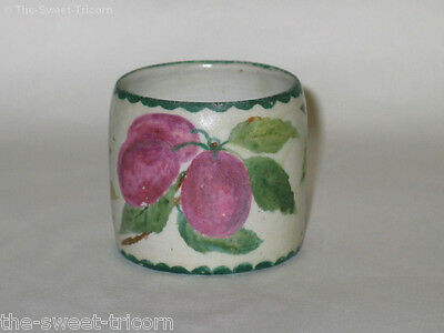 Annie Mitchell, Goodwood SA, Vase, Hand-Painted Plums. Australian Pottery