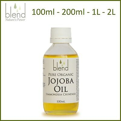 Jojoba Oil Pure Organic Cold Pressed Hexane Free Unrefined Natural Premium