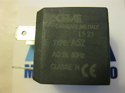 CEME 1525 OR 1436 solenoid coil type A52   24V   50Hz seat ø 10mm