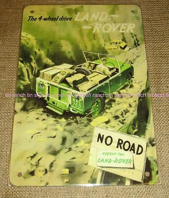 vintage style LAND ROVER SIGN NEW advert wall art 4WD garage Army outdoor 50s