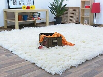 Flokati Shaggy Rug Living Room Cosy Carpet High Pile Mat Soft Wool Rug Area Rug