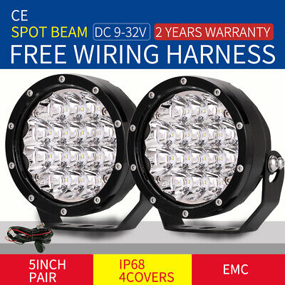 5inch 21600W Cree LED Driving Lights Work Spotlights Round Black Offroad 4WD