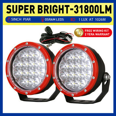 5inch 21600W Cree LED Driving Lights Spot Black Round Offroad 4x4 Work Lamps HID