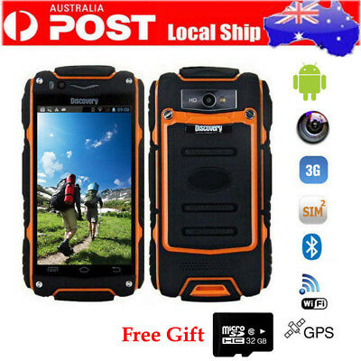 3G Android Discovery V8 Rugged Smartphone Dual Core WIFI Orange Cell Phone+32GB