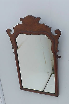18th century Mirror in Birds Eye Maple and Walnut Frame