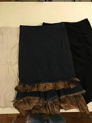 Women Skirt Lot Knee Length - Xoxo Joyce Leslie 3 Size Small