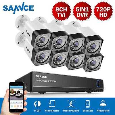 SANNCE 1500TVL Video 720P Security Camera 8CH 1080N HD Video Surveillance System