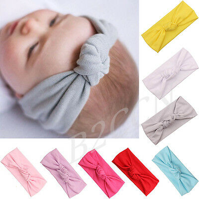 Cute Baby Headband Toddler Kids Girls Bow Hairband Turban Knot Rabbit Headwear