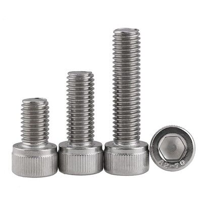4mm M4 A2 G304 STAINLESS STEEL ALLEN BOLT SOCKET CAP SCREW & HEX NUTS & WASHERS