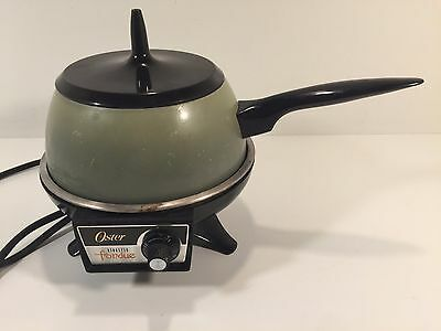 Vintage Oster Electric Fondue Model 680 Avocado Green Working