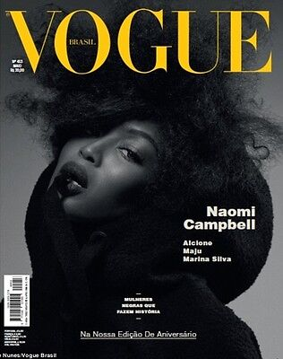 VOGUE Magazine Brasil Brazil May 2014,Naomi Campbell by Zee Nunes NEW