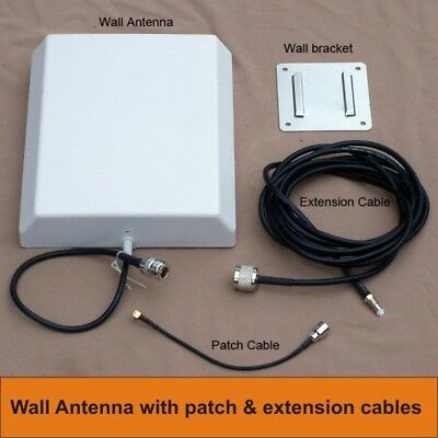 Wall Antenna + 10m cable +  Patch cable - Telstra modems, some Optus modems