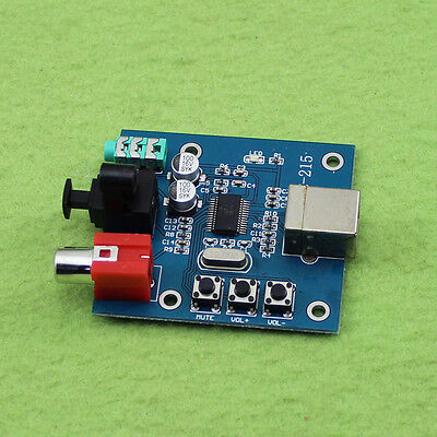 PCM2704 USB DAC to S/PDIF Sound Card Decoder Board 3.5mm Analog Output F/PC K9