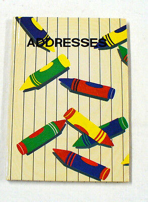 Tabbed Address Telephone Book, Crayons on the Cover, Lightweight and Portable