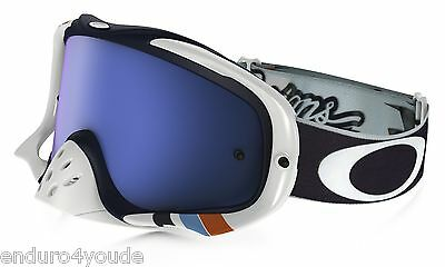 OAKLEY CROWBAR GOGGLE TLD CORSE WHITE- BLACK ICE IRIDIUM LENS @ MX Brille Enduro
