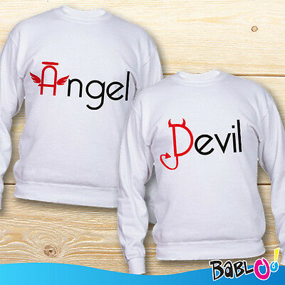 "Coppia di Felpe You And Me ""Angel and Devil"""