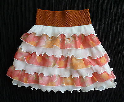 Baby clothes GIRL 12-18m NEW! frilly pink/peach/white skirt elasticated waist